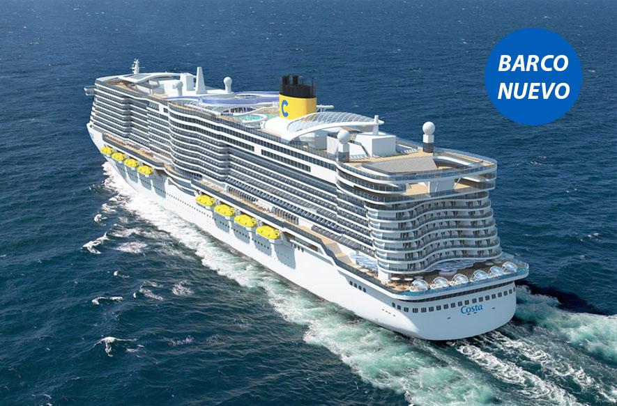 Crucero Mediterráneo Occidental | Costa Cruceros | España, Italia, Francia a bordo del Costa Smeralda