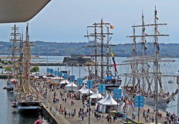 Tall Ships Races 2016 en el muelle de trasatlánticos de A Coruña