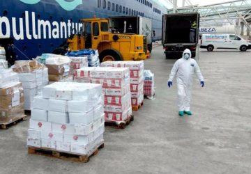 Pullmantur dona 13 toneladas de alimentos