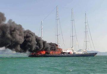 Phocea en llamas