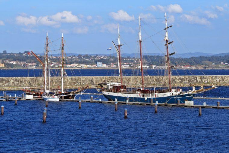 Tres veleros históricos se dan cita en A Coruña